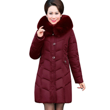 Middle-aged and Old Women's winter jacket Casual Fashion Women Parka High-Quality Female Hooded Coat Parka Plus Size 5XL 5L50