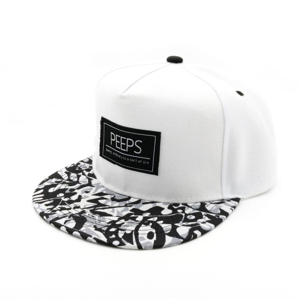 Minhui 2015 Moda e Re PEEPS Baseball Caps Snapback Flat Hat Brim - Aksesorë veshjesh - Foto 2