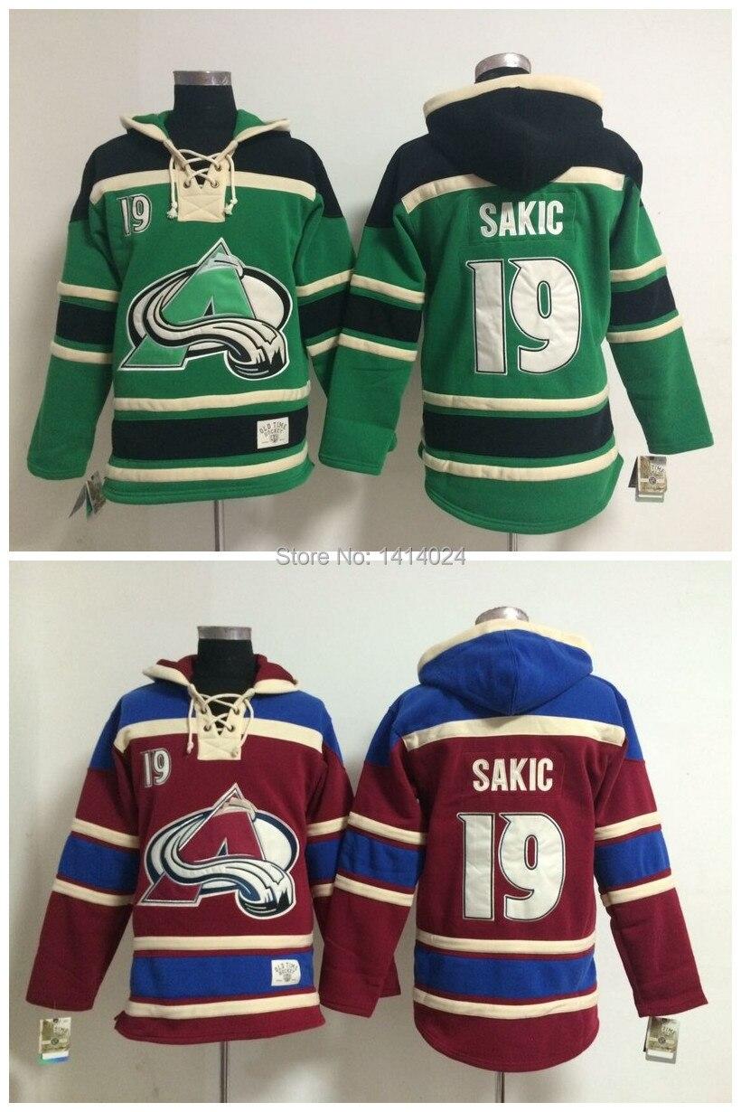 2015 new cheap mens old time hockey jersey colorado avalanche 19 joe sakic fleece hoodie jerseys