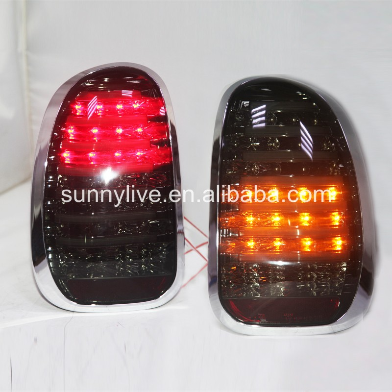 LED Tail Lamp 10-13 Year For BMW MINI COOPER COUNTRYMAN R60 Smoke Black Color LH carking grid pattern abs uv protected door handle cover for mini cooper countryman 4 pcs