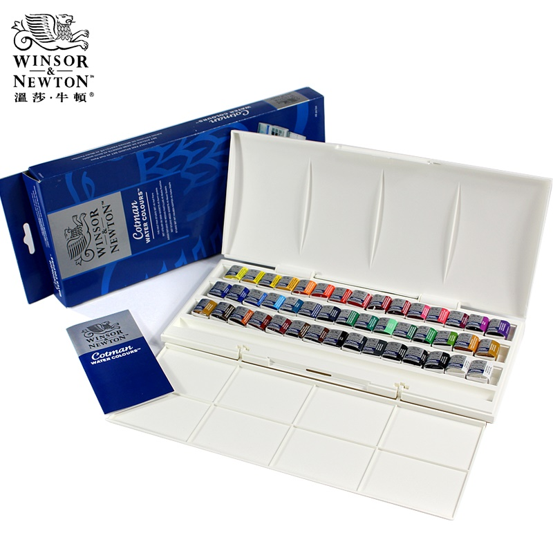 WINSOR & NEWTON 45 colors Watercolor Paints Cotman solid ARTIST Water color pigment Art Drawing Supplies freeshipping rubens solid watercolor paints mental box water color kit pigment watercolour set 24 12 colors artist level fine