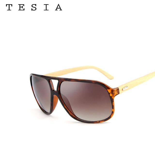 79268d4cb5 TESIAWomen gafas de Sol De Madera Gafas de Los Hombres Polaroid Gafas Sin  Montura lentes de