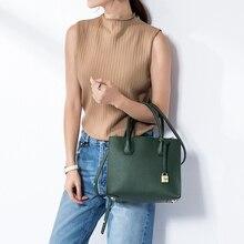 Vvmi bolsos women genuine leather bags handbags  lock bag single shoulder bags crossbody bags for female brand designer