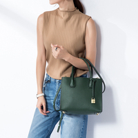 Vvmi 2016 New Women Handbags Genuine Leather Bags Chic Small Square Totes Lock Single Shoulder Bags