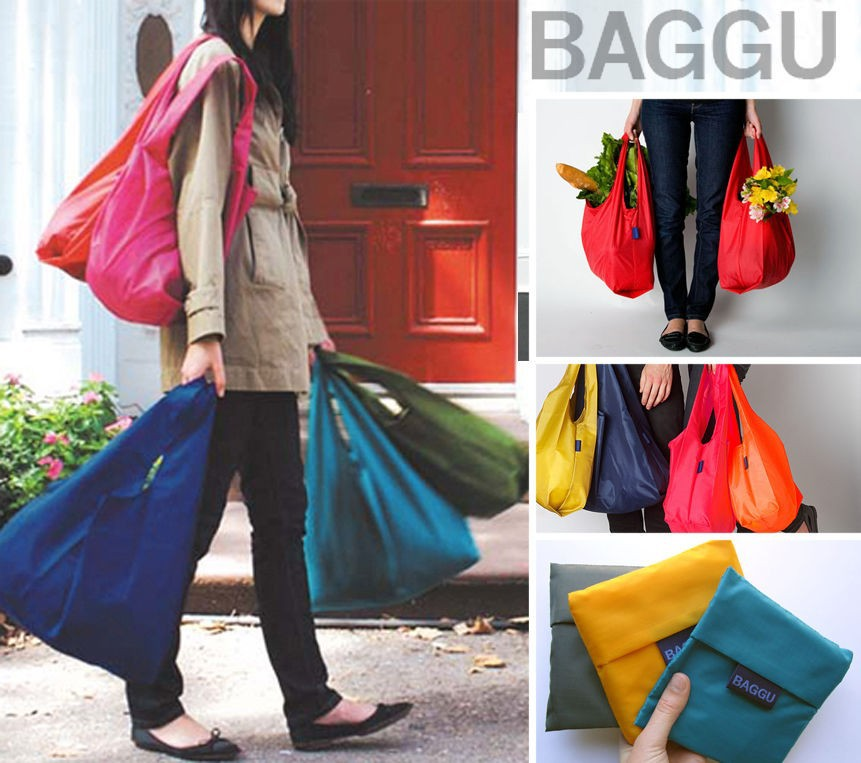 8pcs Fashion Japan BAGGU Square Pocket Shopping Bag  7f1b4bfba5157