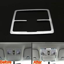 Barbacoa @ FUKA cromo ABS coche cúpula de Techo Luz de lectura delantera cubierta de la lámpara pegatina de estilismo embellecedora para Kia Sportage R 2011-2015