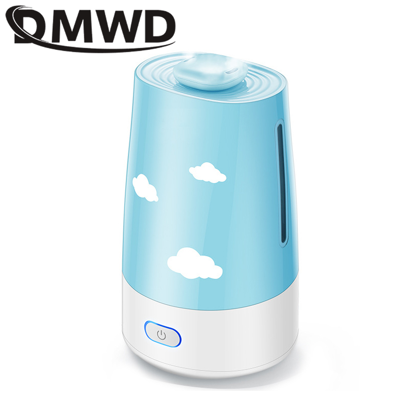 DMWD Ultrasonic Air Humidifier Essential Oil Diffuser Electric Aroma Diffuser Mist Maker Aromatherapy Machine for Home Office EU 300ml ultrasonic humidifier essential oil diffuser air humidifier aroma lamp aromatherapy electric mist maker for home office