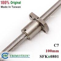 TBI 0801 Miniature Ball Screw 8mm dia 1mm lead Ballscrew 100mm with ballnut SFK0801 for CNC parts