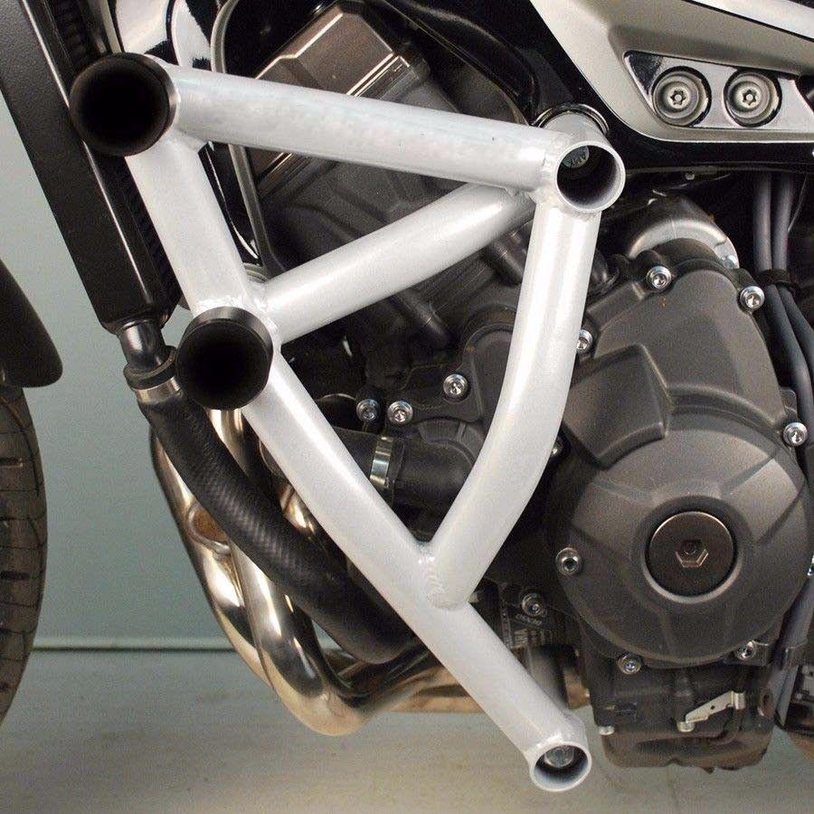 2018 Nouvelle Arrivée Blanc Stunt Cage Moteur Garde barre D'accident pour Yamaha MT FZ 09 Traceur MT-09 FZ-09 Haute Qualité livraison Gratuite