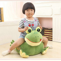 Drop shipping Cute animals baby seat Cartoon green frog plush seat cushion children's plush toys frog sofa at home decoration