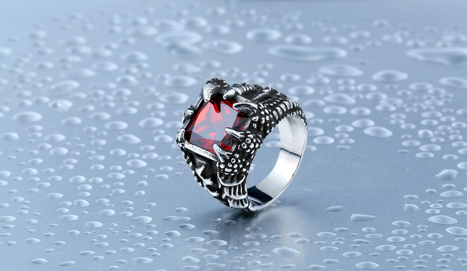 Cool Dragon Stainless Steel Claw Ring