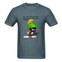 2015 Mens T Shirts Looney Tunes Marvin The Martian Game Top Tee Shirt 100 Cotton O