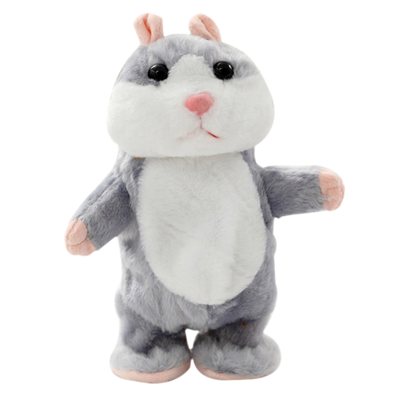 2017 Talking Hamster Mouse Pet Cute Speak Talking Plush Toy Sound Record Hamster Educational Toy for Children Gift