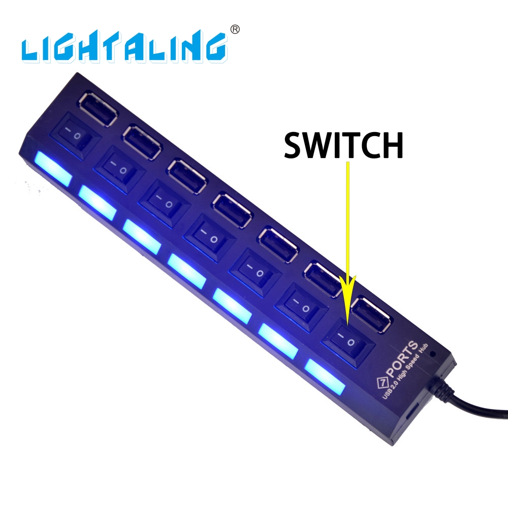 Lightaling High Quality 7 Port With USB And Battery Box With Usb Port For Building Blocks Bricks Light Kit