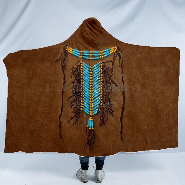 Totem/Native Indian Hooded Blanket 1
