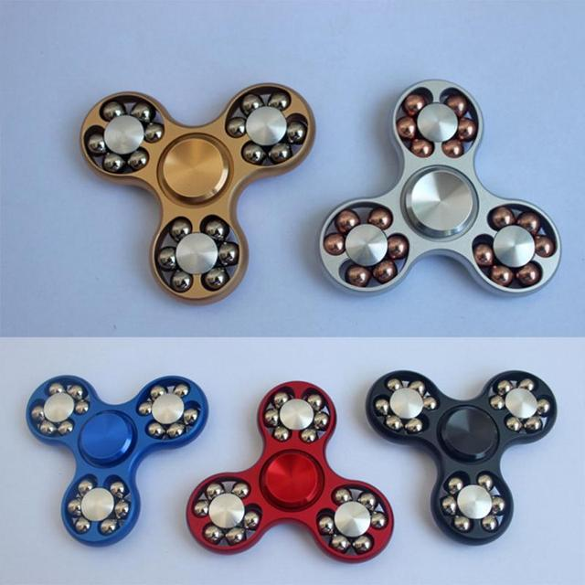 New Design Ball Finger Gyro Aluminum Alloy Hand Spinner Finger Gyro Tri Fidget EDC Toy Focus ADHD Autism