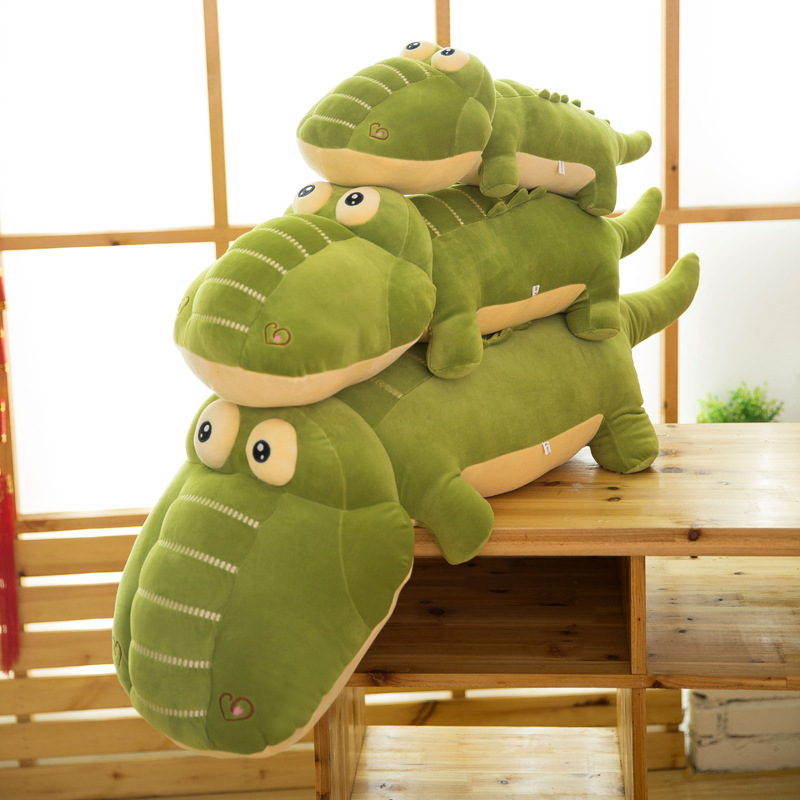 125cm Large Animal Crocodile Plush Toy Stuffed Soft Cartoon Alligator Pillow Doll Free Shipping stuffed animal 90 cm plush dolphin toy doll pink or blue colour great gift free shipping w166