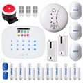 KERUI APP Wireless GSM RFID arm/disarm Autodial Home Alarm System Door/window Status Self-check+smoke/fire detector+glass sensor