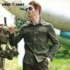 FREE ARMY High Quality Mens Basic Shirts Casual Slim Fit Men Shirt Long Sleeve Green Solid