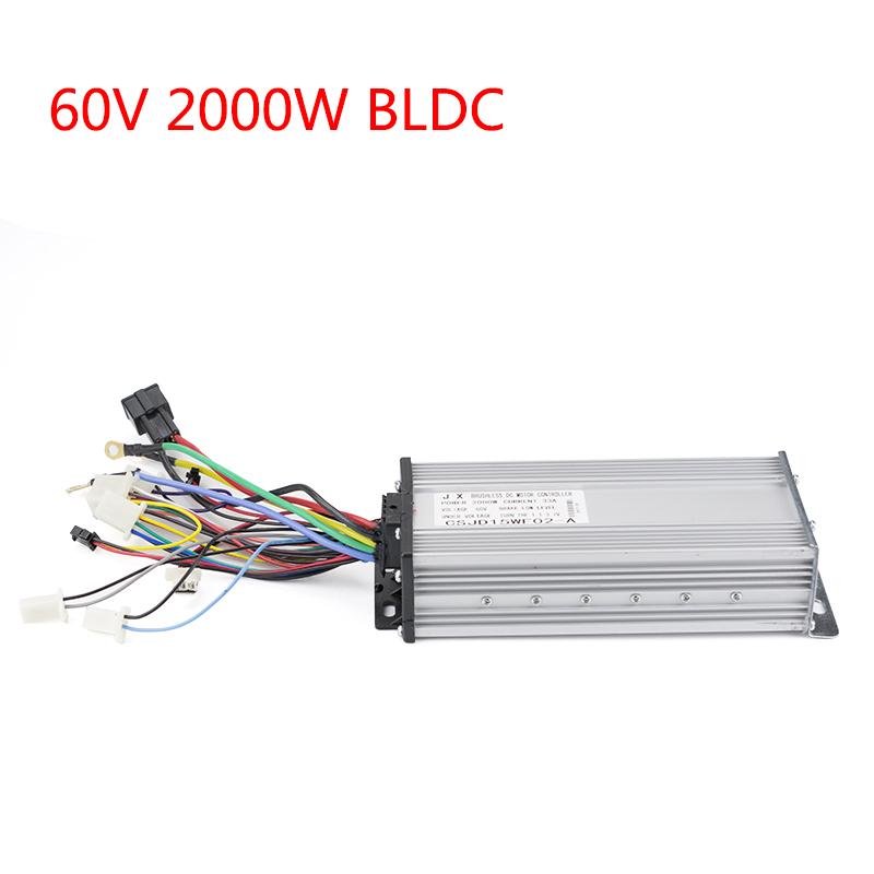 BLDC 2000W 60V 35A 15Mosfet Controller For Brushless Motor E-car E-Bicycle Bike Electric Scooter Accessories Parts Wholesale