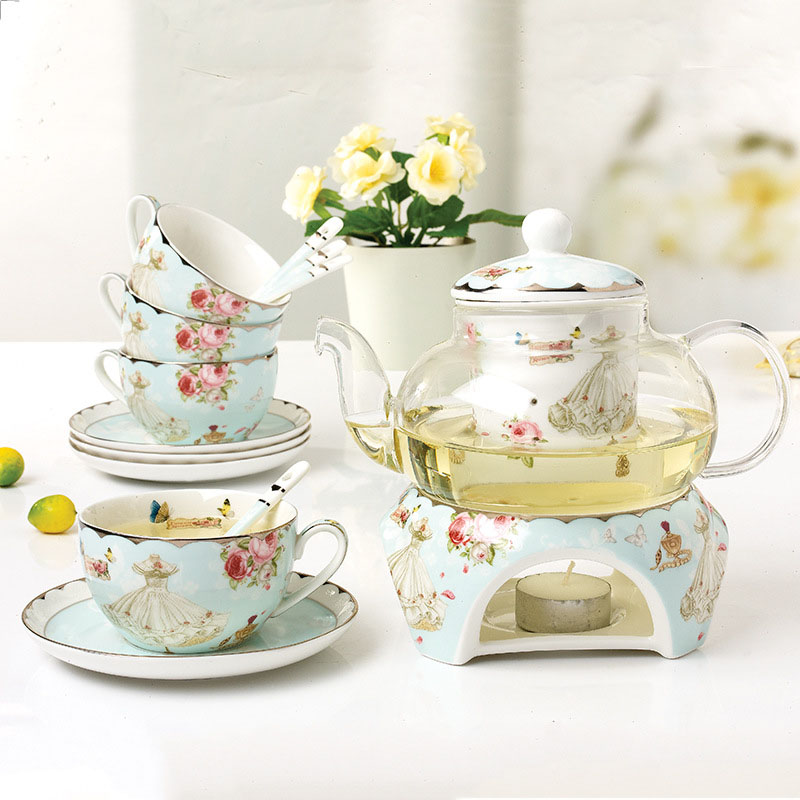 15 Pieces Modern Fashion European Style Tea Set Heatable