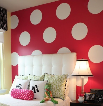 Polka Dots Wall Stickers Wall Decals, Removable Home Decoration