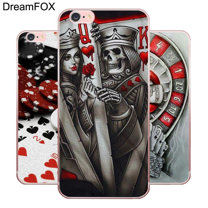 Maiyaca Poker Joker Novelty Fundas For Iphone 4s Se 5c 5s 6 6s 7 8 Plus X Xr Xs Max Black Soft Shell Phone Case Rubber Silicone Suitable For Men And Women Of All Ages In All Seasons Phone Bags & Cases