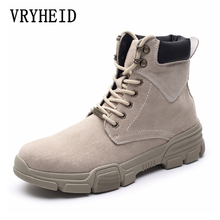 VRYHEID Brand Genuine Leather Men Boots Autumn Winter Ankle Boots Fashion Footwear military boots High Quality Vintage Men Shoes xper brand genuine leather men shoes autumn winter men boots 100