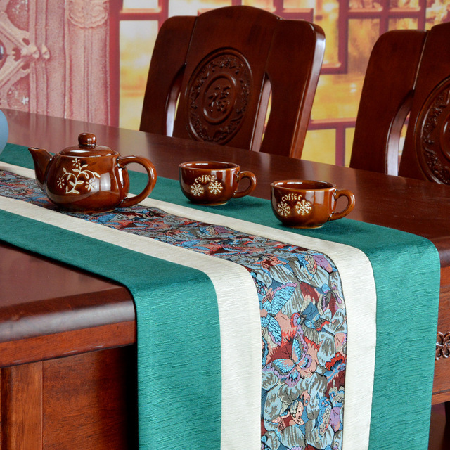 Concise Style Cotton Linen Wedding Table Runner Embroidery Tv Cabinet Tablecloths Modern Long Bedside Tablecloth