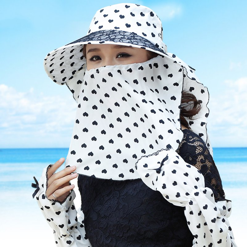Summer can be folded anti UV sun hat sun protection for children to cover the sun with a large cap on the beach bike travel( the new children s cubs hat qiu dong with cartoon animals knitting wool cap and pile