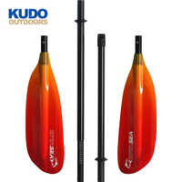 New Colorful Transparent Carbon Fiber Sea Kayak Paddle in 4 Parts with Free Paddle Bag in Surfing for Rowing Boats