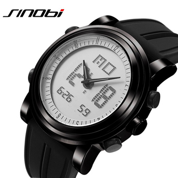 Led Digital Analog Quartz Watch Silicone Strap Military Sports 1