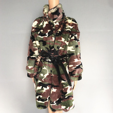 camouflage really  rex rabbit fur coat women in the new jacket of 2019 85 long 13 цена и фото