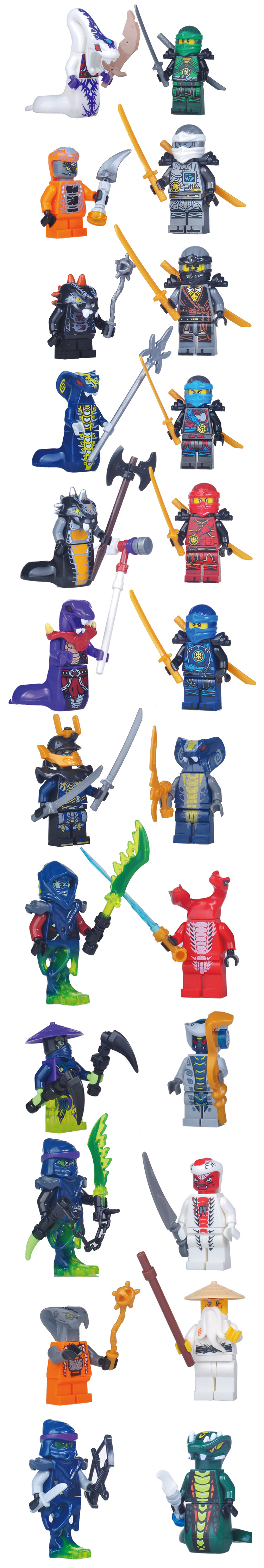 Lego Ninjago Set Kai Jay Cole Zane Nya Lloyd