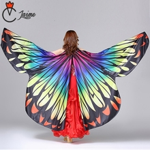 Butterfly Wings Belly Dance Isis Wings include bag and sticks Stage Performance Props Dance Accessories Egyptian Gold Wings belly dance wings adult and child rainbow butterfly 360 degree big butterfly props high quality belly dance isis wings no stick