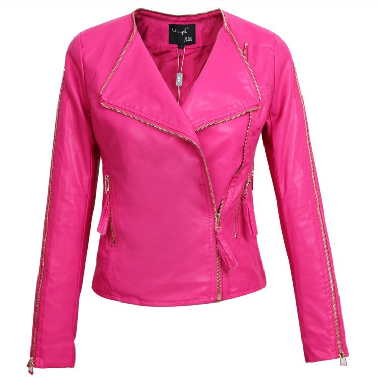 Aliexpress.com : Buy spring 2014 leather jackets ladies women's ...
