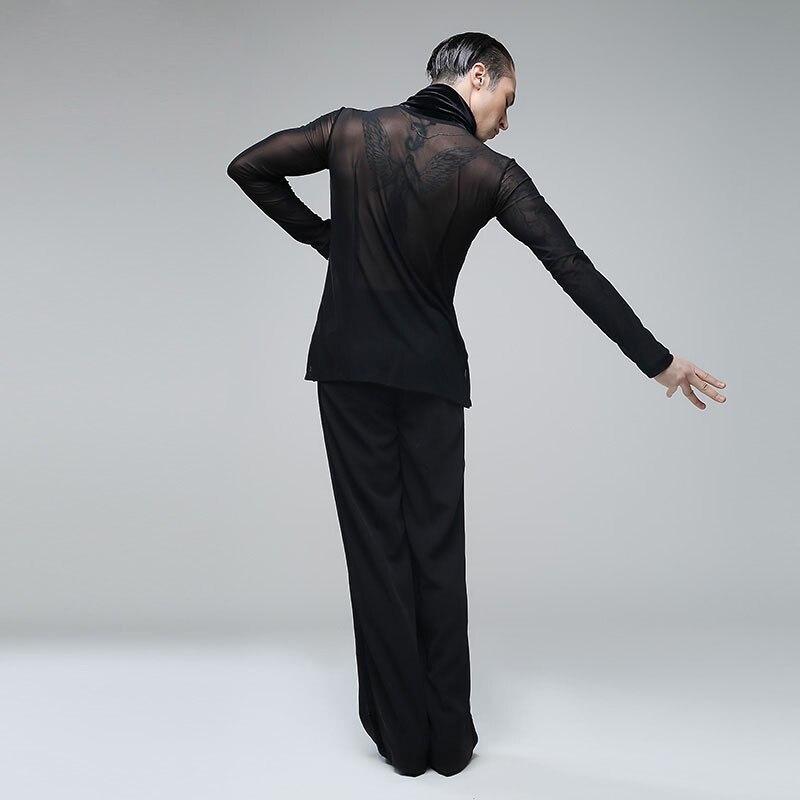 Одежда для латинских танцев плотный сексуальный купальник мужское трико - 4