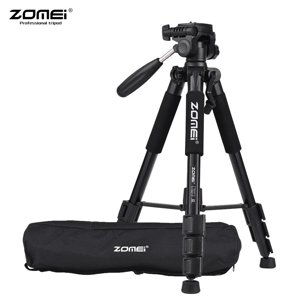 ZOMEI Q111 professionnel Portable voyage en aluminium caméra trépied et tête panoramique pour appareil photo numérique reflex numérique DSLR