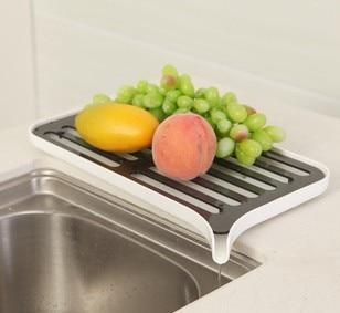 Doppelschichten Küchenablauf Rack Küchenschrank Regal Schüssel - Home Storage und Organisation - Foto 1