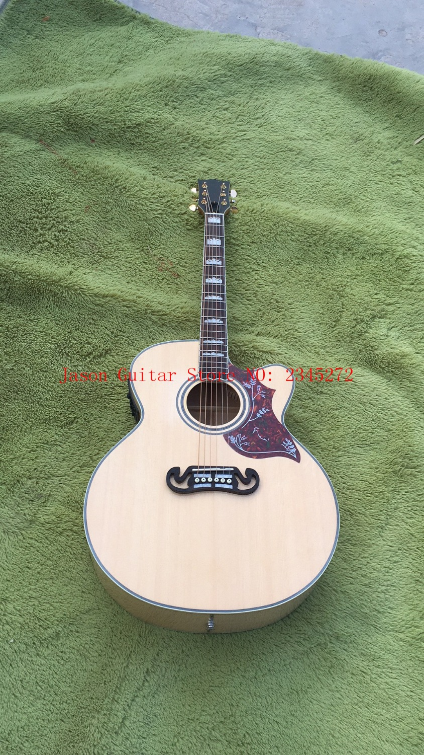 New + Factory + CUSTOM J200 acoustic guitar Cutaway J200 electric acoustic guitar hummingbird pickguard Free Shipping SJ200 free shipping 2017 new arrival esp blood tears jaw custom electric guitar james hetfield esp guitar 150717