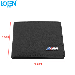 Image 3 - LOEN 1PC Leather Auto Driver License Bag Car Driving Documents Card Credit Holder Purse Wallet Case For bmw style