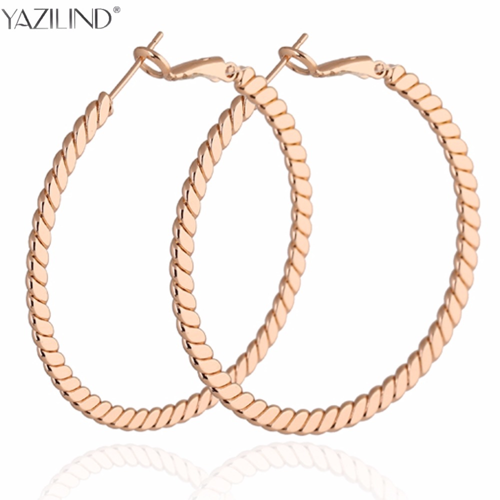 Big Round Earrings Basketball Wives Trendy Gold Color Fashion Jewelry Wholesale Diameter Large Hoop Earrings Women