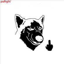 Funny Car Sticker Vinyl Decal Rear Husky dog Motorcycles Window