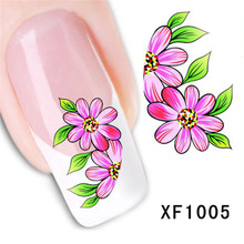 1 Sheet Colorful DIY Art Nail Sticker Nail Art Decorations Mixed Styles Flowers Decal Beauty Manicure Decor Nail Tools