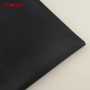 Booksew 100% Cotton Fabric Meters Black Color Home Textile Material Sewing Cloth Telas DIY For Patchwork Quilts Dress Tissus(China)