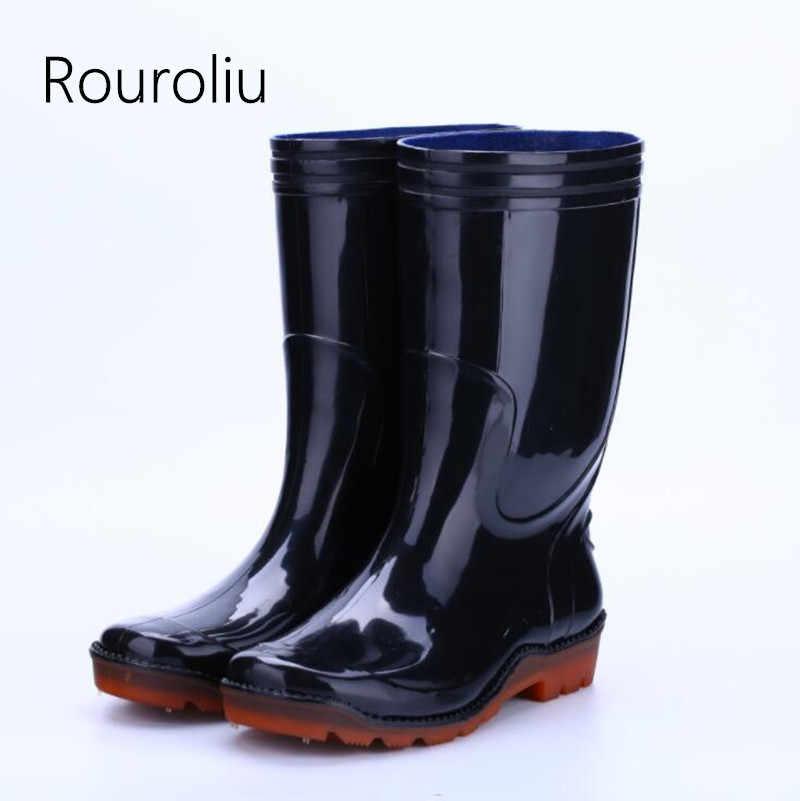 a909dcdb0df Detail Feedback Questions about Rouroliu Men Winter Non Slip Mid ...