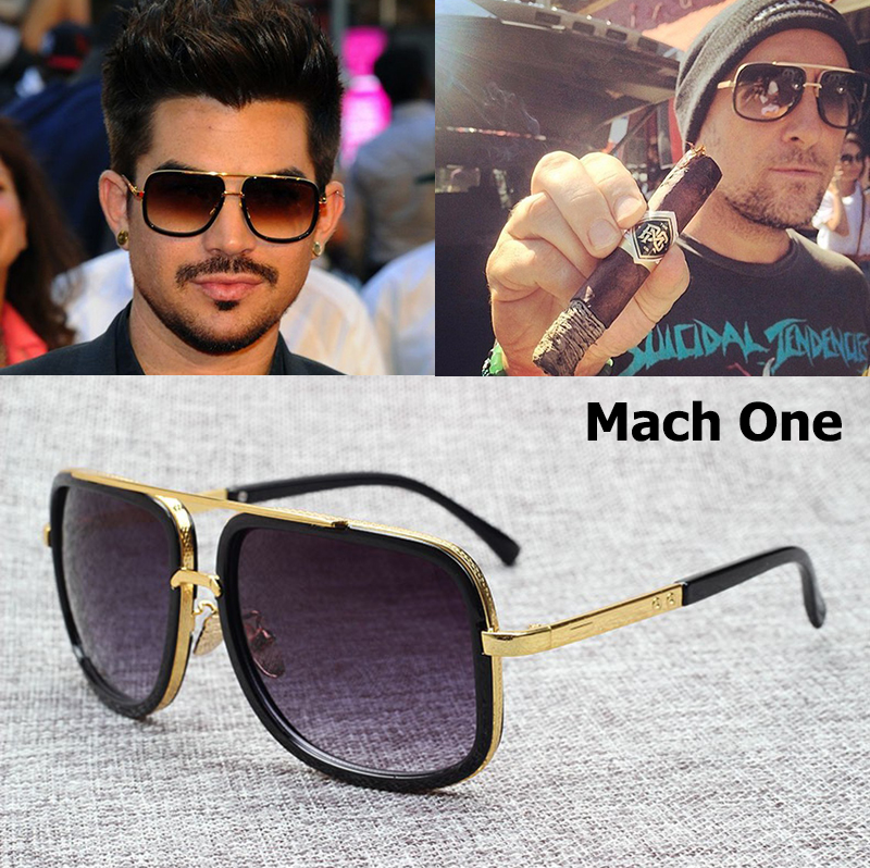 JackJad 2017 Fashion 18K Gold Mach One Adam Lambert Aviator Sunglasses Vintage Brand Design Sun Glasses Men Women Oculos De Sol