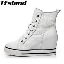 Обувь на очень высоком каблуке, увеличивающая рост; обувь на танкетке; женские туфли-лодочки; обувь на платформе из натуральной кожи со шнуровкой; женские кроссовки; прогулочная обувь