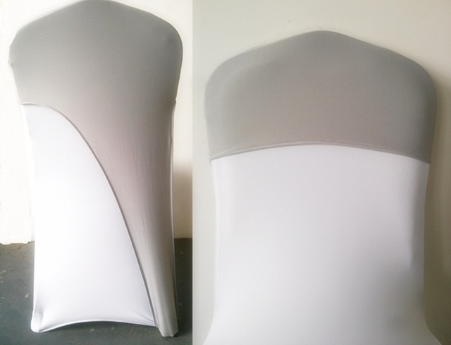 Chair Caps Covers Blue Spandex Grey Silver Colour Lycra Hood For Weddings Cover Fit All Chairs Cap Bow Tie Wholesale