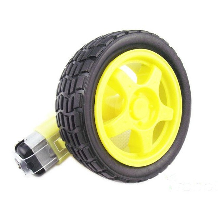 Smart car motor tyres with strong magnetic dc TT suit 65 mm wheel robot (1:48) dual axis reducer motor for smart tt car yellow silver dc 3 6v
